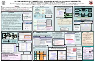 Literature Data Mining and Protein Ontology Development at the Protein Information Resource (PIR)