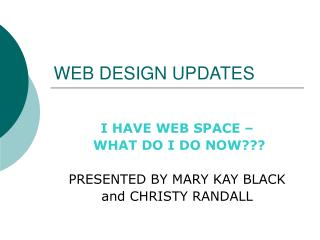 WEB DESIGN UPDATES