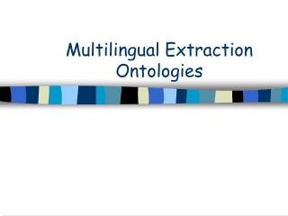 Multilingual Extraction  Ontologies