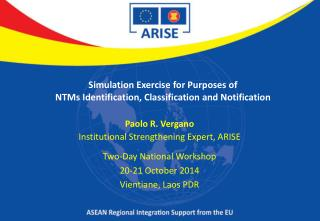 Simulation Exercise for Purposes of NTMs Identification, Classification and Notification