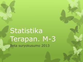 Statistika Terapan. M-3