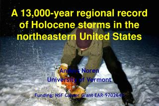 A 13,000-year regional record of Holocene storms in the northeastern United States