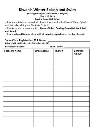 Splash & Swim Registration