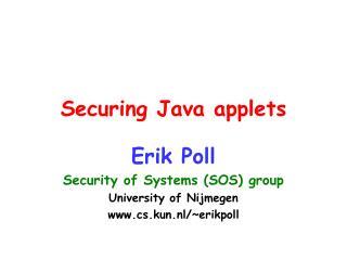 Securing Java applets