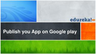 Publish you App on Google play
