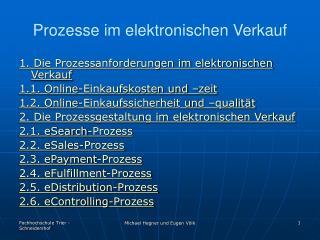 Prozesse im elektronischen Verkauf