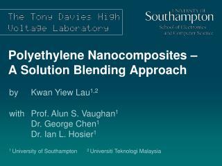 Polyethylene Nanocomposites – A Solution Blending Approach