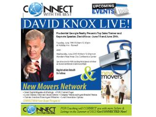 January –  Kickoff Events/ Game Plan Tours February –  David Knox Event