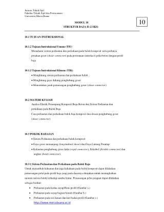 Jurusan Teknik Spil Fakultas Teknik Sipil dan Perencanaan Universitas Mercu Buana