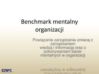 Benchmark mentalny organizacji