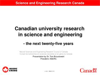 Science and Engineering Research Canada