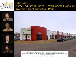 FOR SALE Prime Industrial Space -  With Gaetz Exposure Riverside Light Industrial Park