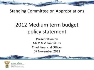 2012 Medium term budget policy statement