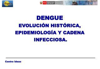 DENGUE EVOLUCIÓN HISTÓRICA,  EPIDEMIOLOGÍA Y CADENA  INFECCIOSA.