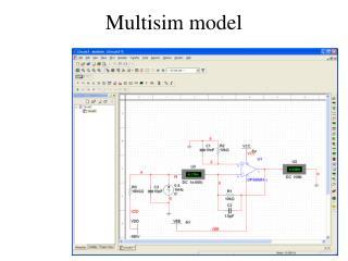 Multisim model