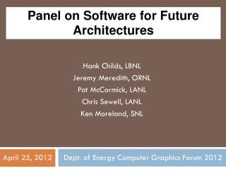 Panel on Next-Generation Codes/Portability