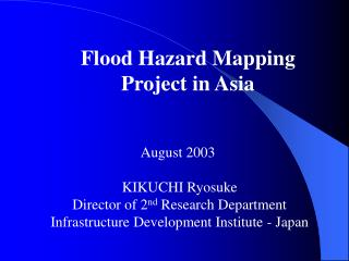 Flood Hazard Mapping Project in Asia