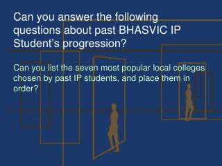 Can you answer the following questions about past BHASVIC IP Student's progression?