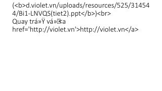 Bi1 LNVQS(tiet2)