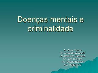 Doenças mentais e criminalidade