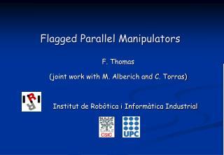 Flagged Parallel Manipulators