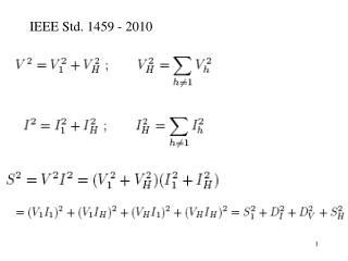 IEEE Std. 1459 - 2010