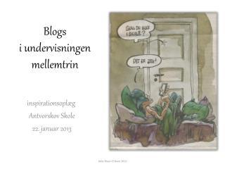 Blogs i undervisningen mellemtrin