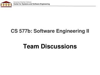 CS 577b: Software Engineering II