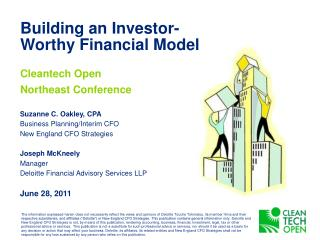 Building an Investor-Worthy Financial Model