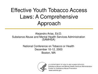Effective Youth Tobacco Access Laws: A Comprehensive Approach