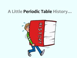 A Little  Periodic Table  History…
