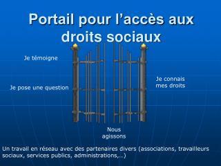 Portail pour l'accès aux droits sociaux