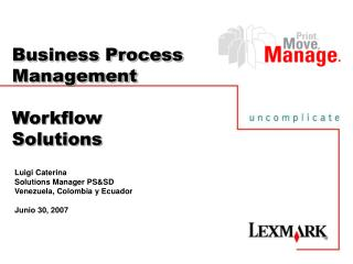 Business Process Management Workflow  Solutions