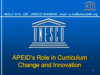 APEID's Role in Curriculum Change and Innovation