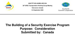The Building of a Security Exercise Program