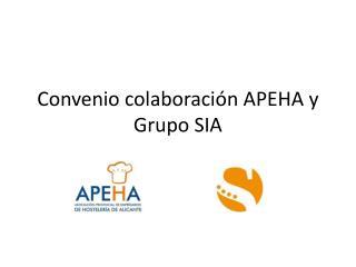 Convenio colaboraci�n APEHA y Grupo SIA