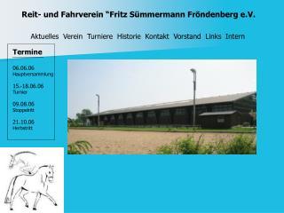 "Reit- und Fahrverein ""Fritz Sümmermann Fröndenberg e.V."