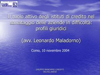 Como, 10 novembre 2004