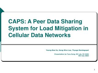 CAPS: A Peer Data Sharing System for Load Mitigation in Cellular Data Networks