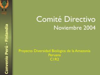 Comité Directivo Noviembre 2004