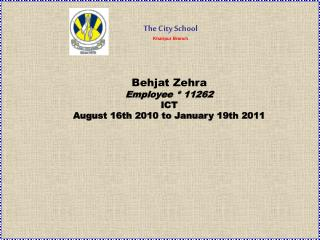The City School Khairpur Branch