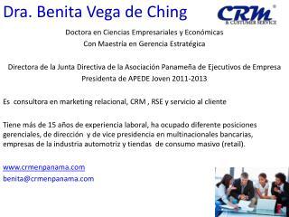 Dra. Benita Vega de Ching