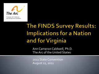 The FINDS Survey Results: Implications for a Nation and for Virginia
