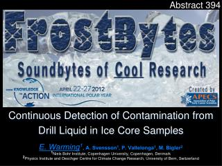 Continuous Detection of Contamination from Drill Liquid in Ice Core Samples