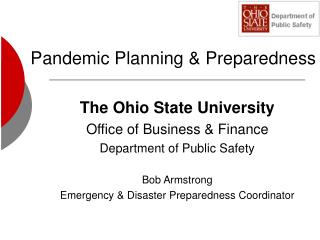 Pandemic Planning & Preparedness