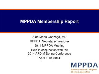 MPPDA Membership Report