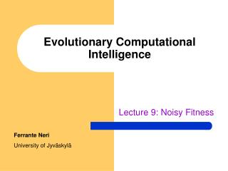 Evolutionary Computational Intelligence