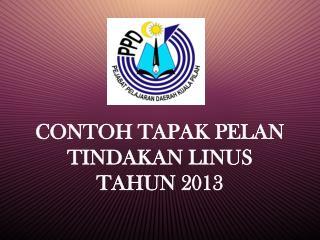 CONTOH TAPAK PELAN TINDAKAN LINUS TAHUN 2013