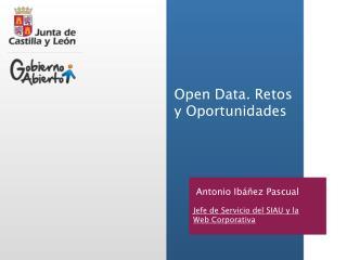 Open Data. Retos y Oportunidades
