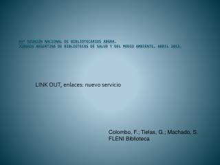LINK OUT, enlaces: nuevo servicio